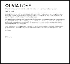 Pharmacy Assistant Cover Letter Sample | LiveCareer