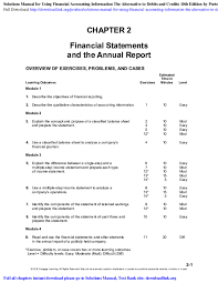 Detailed Classified Balance Sheet Pdf Solutions Manual For Using Financial Accounting