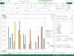 Pivot Bar Chart How To Create Pivot Charts In Excel 2016 Dummies