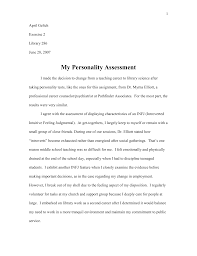 Library 286-My Personality Assessment - April Geltch E