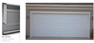 model 2283 double steel 2 insulated garage door