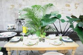 décoration de table jungle tropicale à table