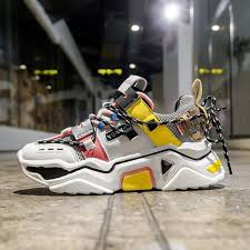 <b>Women</b> Platform Chunky Sneakers 5cm high lace-up <b>Casual</b> ...