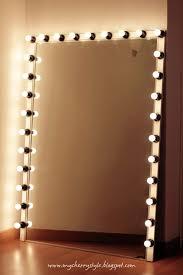 diy lighted dressing mirror