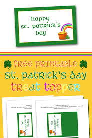 free printable st patrick s day treat