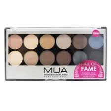 mua makeup hall of fame professional eyeshadow palette metallic neutral s
