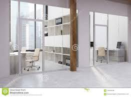 White And Glass Office Corner Stock Illustration Illustration Of