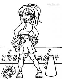 Coloring Pages Cheerleader Coloring Pages Cheerleading Drawing For