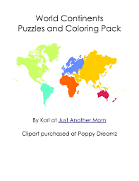 Small Picture World Map Coloring Page 05 And Continents Coloring Page esonme