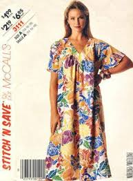 Muumuu Pattern New Traditional Muumuu WFront Tucks Victoria Jones Collection Sewing