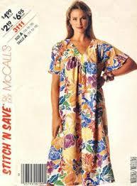 Muumuu Pattern New Traditional Muumuu WFront Tucks Victoria Jones Collection Sewing