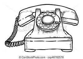 Symbol, telefon, rysunek, telefon, icon., wizerunek. Wizerunek, telefon,  symbol., telefon, picture., artystyczny, freehand, | CanStock