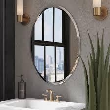 Image Frameless Kayden Bathroom Mirror Wayfair Wade Logan Kayden Bathroom Mirror Reviews Wayfair