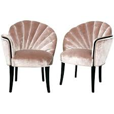 furniture art deco style. Art Deco Era Furniture Modern Pair Of Shell Back Boudoir Chairs Style
