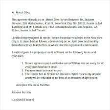 Sample Letter To Landlord To Terminate Lease Early Tenancy Agreement Template Letter From Landlord Sample Tenant Joint