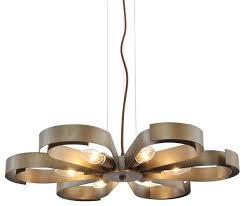 metal fl pendant light with 6 lights antique bronze pendant lighting by unitary