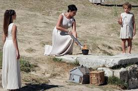 flame lighting olympics. the last surviving priestess from first olympic flame lighting ceremony, maria horss, has olympics d