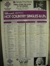Dolly Parton Willie Nelson Chart Topper Original Rare 1981 Supersized Chart Ebay