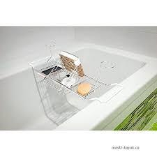gthunder bath caddy over bathtub tray stainless steel bath tub racks organizer with extending sides wine