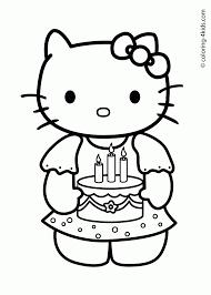 Niewu Hello Kitty Verjaardag Kleurplaat 2019