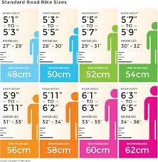 Bike Size Chart Road Bike Bike Size Chart Road Bike Bike Frame Bicycle Maintenance