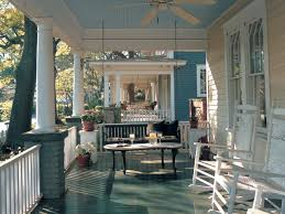 the porch furniture. Southern Porch. Wooden Rocking Chairs And A The Porch Furniture