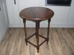 a vintage oak round table with attractive turned legs in warrington cheshire gumtree