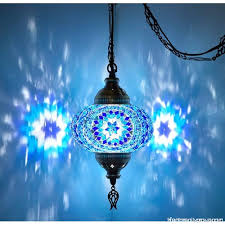 demmex turkish moroccan mosaic hardwired or swag wall plug in chandelier light ceiling hanging lamp pendant