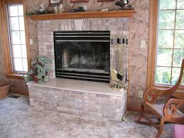 Reface Fireplace Ideas Fireplace Cool Refacing A Brick Fireplace With Stone Hdswt F