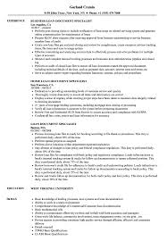 Document Specialist Job Description Resume Loan Document Specialist Resume Samples Velvet Jobs 3