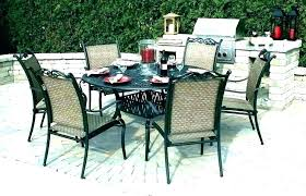 patio set with fire pit and umbrella round outdoor table 3