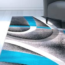 white and turquoise rug gray striped