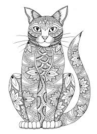 Small Picture Cat coloring page by miedzykreskami on Etsy Adult Colouring