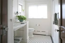 Black And White Bathroom Tiles Hexagon Floor Are Quite In Design Decorating
