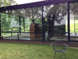 photo of the glass house new canaan ct united states view of