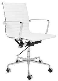 eames style office chairs. SOHO Eames Style Ribbed Management Office Chair (White) Chairs