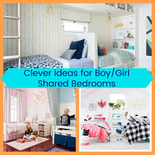 Boy and girl sharing a room
