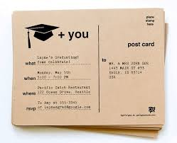 Photo Invitation Postcards Diy Printable Graduation Invitation Postcards By