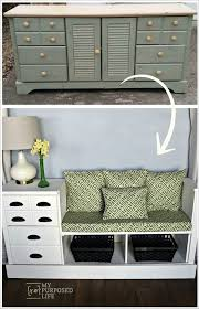 Image Entertainment Bench Made From Dresser My Repurposed Life Repurposed Furniture Old Dresser Ideas And Makeovers My Repurposed