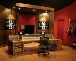 Recording Studio Design Ideas charming home recording studio design ideas using red