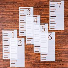 Reusable Growth Chart Stencil Tatuo 7 Feet Growth Chart Stencil Kids Height Growth Chart Reusable Ruler Template Painting On Wood Measuring Kids Height Wall Decor Rustic Decor