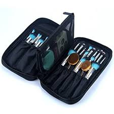 or pure professional cosmetic makeup brush organizer makeup artist case with belt strap holder cosmetic makeup