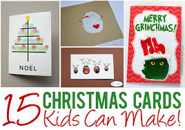 Christmas Crafts For Kids  Homemade Christmas Cards With Glitter Christmas Card Craft For Children