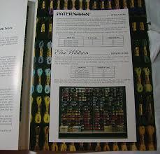 Paternayan Elsa Williams Yarn Color Card Chart Tapestry