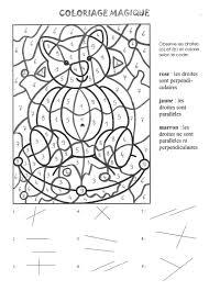 Coloriage Magique Parall Les Et Perpendiculaires Orthophonie