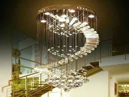 raindrop crystal chandelier parts luxury led light bulb lamps for staircase stair