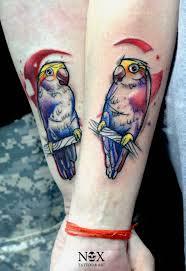 фото и значение тату попугай