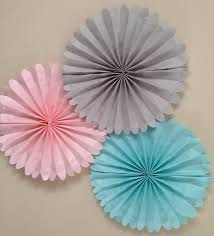 set of 5 tissue paper fans nursery decor 5 pomwheels custom pinwheels childrens birthday party decorations classroom