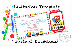 Invitation Ticket Template Magnificent 48 Ticket Invitation Templates Free Sample Example Format