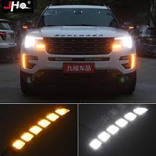 2016 Ford Explorer Led Fog Lights Jho 12v Car Led Drl Daytime Running Light Yellow Turn Signal